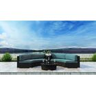 Glendale 4 Piece Sectional Set with Sunbrella Cushion Cushion Color: Cast Lagoon