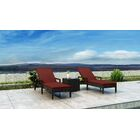 Glendale Sun Lounger Set with Cushions and Table Cushion Color: Canvas Henna