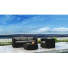 Glendale 3 Piece Sofa Set with Sunbrella Cushion Cushion Color: Canvas Charcoal
