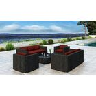 Glendale 5 Piece Sofa Set with Sunbrella Cushion Cushion Color: Canvas Henna