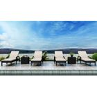 Glendale Sun Lounger Set with Cushions and Table Cushion Color: Canvas Flax