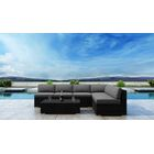 Glendale 7 Piece Sectional Set with Sunbrella Cushion Frame Finish: Coffee Bean, Cushion Color: Canvas Spa