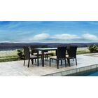 Glendale 7 Piece Dining Set with Sunbrella Cushion Cushion Color: Canvas Flax