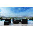 Glendale 8 Piece Sectional Set with Sunbrella Cushion Cushion Color: Cast Lagoon