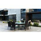Glendale 9 Piece Dining Set with Sunbrella Cushion Cushion Color: Canvas Spa