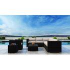 Glendale 9 Piece Sectional Set with Sunbrella Cushion Cushion Color: Canvas Flax