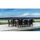 Glendale 9 Piece Dining Set with Sunbrella Cushion Cushion Color: Natural