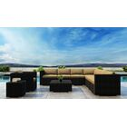 Glendale 10 Piece Sectional Set with Sunbrella Cushion Cushion Color: Heather Beige