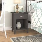 Myles 1 Drawer Nightstand Color: Dark Gray/Light Brown Oak