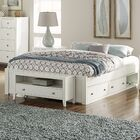 Granville Storage Platform Bed Color: White, Size: King