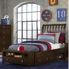 Granville Rake Storage Sleigh Bed Color: Chocolate, Size: King