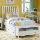 Granville Rake Storage Sleigh Bed Color: White, Size: Queen