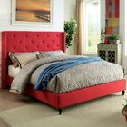 Lanigan Upholstered Wingback Bed Size: Twin, Color: Red