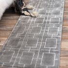 Glam Gray Area Rug Rug Size: Runner 2' x 6'