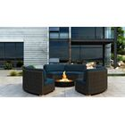 Glen Ellyn 3 Piece Sectional Set with Sunbrella Cushion Cushion Color: Spectrum Indigo