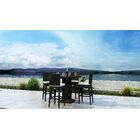 Glen Ellyn 5 Piece Dining Set with Sunbrella Cushion Cushion Color: Canvas Natural