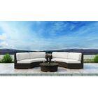 Glen Ellyn 4 Piece Sectional Set with Sunbrella Cushion Cushion Color: Canvas Natural
