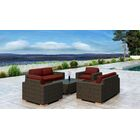 Glen Ellyn 5 Piece Sofa Set with Sunbrella Cushion Cushion Color: Canvas Henna