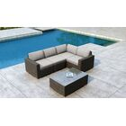 Glen Ellyn 5 Piece Sectional Set with Sunbrella Cushion Cushion Color: Cast Silver