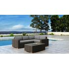 Glen Ellyn 5 Piece Sectional Set with Sunbrella Cushion Cushion Color: Canvas Charcoal