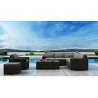 Glen Ellyn 8 Piece Sectional Set with Sunbrella Cushion Frame Finish: Chestnut, Cushion Color: Cast Lagoon