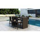 Glen Ellyn 7 Piece Bar Height Dining Set with Sunbrella Cushion Cushion Color: Canvas Flax