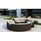 Glen Ellyn 7 Piece Sectional Set with Sunbrella Cushion Cushion Color: Canvas Flax