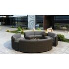 Glen Ellyn 7 Piece Sectional Set with Sunbrella Cushion Cushion Color: Canvas Charcoal