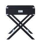 Axis End Table with Storage Color: Black