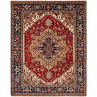 One-of-a-Kind Doerr Hand-Knotted Wool Red/Blue Area Rug Rug Size: Rectangle 8'1