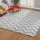 Lafave Chevron Hand-Tufted Gray Area Rug Rug Size: Rectangle 8' x 10'