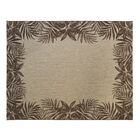 One-of-a-Kind Swinford Tropic Border Brown Indoor/Outdoor Area Rug Rug Size: Rectangle 5'3