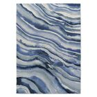 Lares Watercolor Waves Blue Area Rug Size: Rectangle 2' x 3'