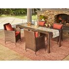 Sarver 5 Piece Dining Set with Cushions Cushion Color: Deep Coral