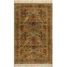 One-of-a-Kind Delron Hand-Knotted Wool Light Green/Gold Area Rug
