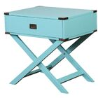 Antonina End Table with Storage Color: Blue