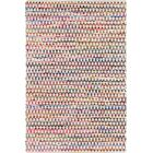 Hirth Hand-Braided Pink/Yellow Area Rug Rug Size: Rectangle 6' x 9'