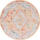 Gomez Orange/Gold Area Rug Rug Size: Round 6'
