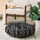 Schatzi Reeve Pattern Floor Pillow Color: Black
