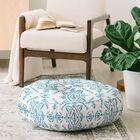 Schatzi Reeve Pattern Floor Pillow Color: Blue