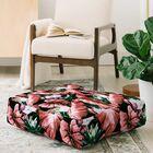 Marta Barragan Camarasa Dark Tropical Nature Floor Pillow