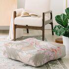 Iveta Abolina Alocasia Garden Floor Pillow Color: Gray