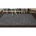 Roxana Floral Gray Area Rug Rug Size: Rectangle 5' x 8'