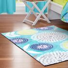 Pointillist Pansy Blue Area Rug