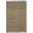 Mcelhaney Hand-Woven Beige/Black Area Rug Rug Size: Rectangle 4' x 6'