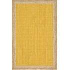 Swartwood Hand-Braided Yellow Area Rug Rug Size: Rectangle 5' x 8'