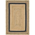 Edgemont Hand-Braided Brown Area Rug Rug Size: Rectangle 4' x 6'