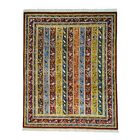 One-of-a-Kind Gerst Kashkuli Shawl Oriental Hand-Knotted Red/Yellow Area Rug