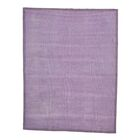 One-of-a-Kind Elsass Lavender Modern Overdyed Oriental Hand-Knotted Purple Area Rug