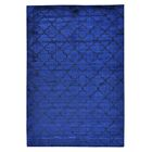 One-of-a-Kind Dismuke Overdyed Hand-Knotted Silk Blue Area Rug